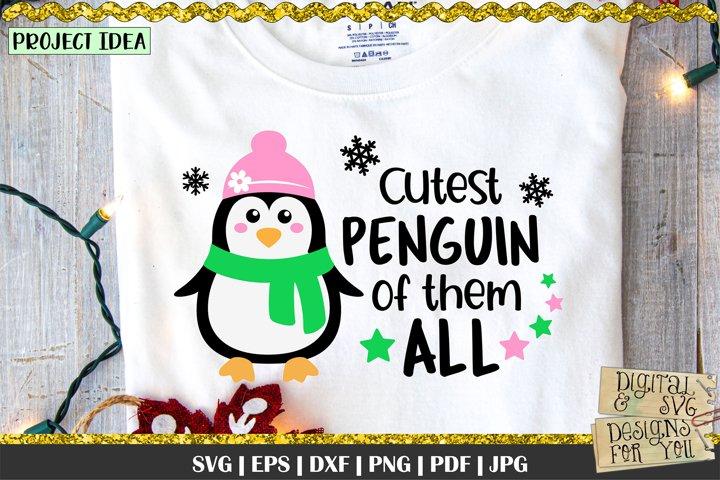 Cutest Penguin of them All svg | Penguin Girl | Cute Penguin
