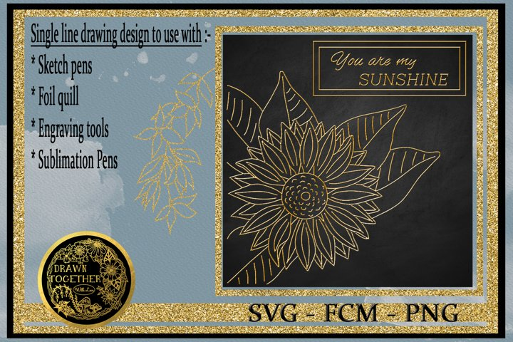 Sunflower - Single line for foil quill