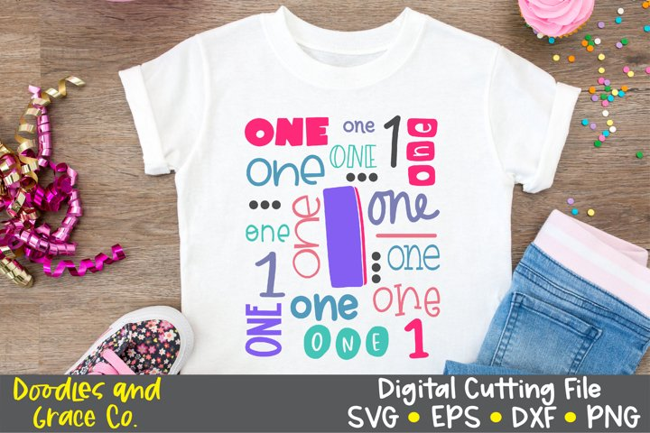 First Birthday Cut File and Sublimation, SVG, PNG, DXF, EPS