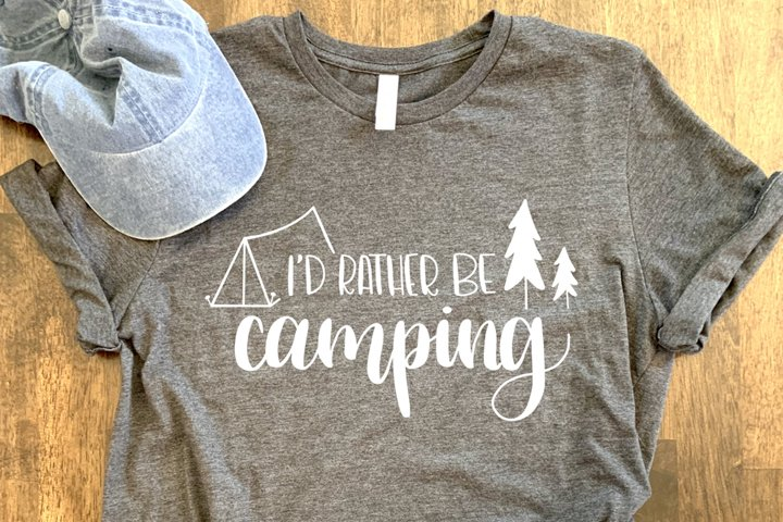 Id Rather Be Camping SVG//cut file//PNG//Hand Drawn