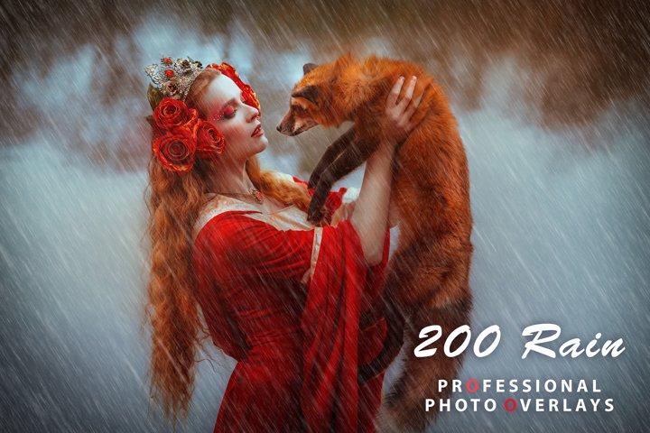 200 Rain Photo Overlays