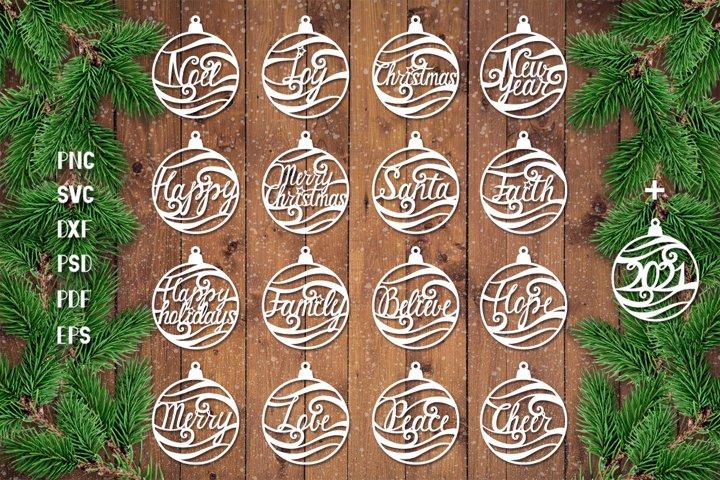 Christmas Baubles SVG,Christmas Ornament SVG,Christmas Ball