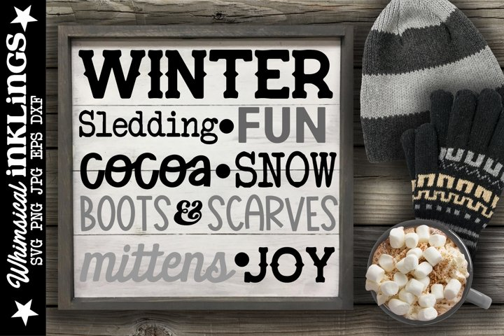 Winter Collage SVG