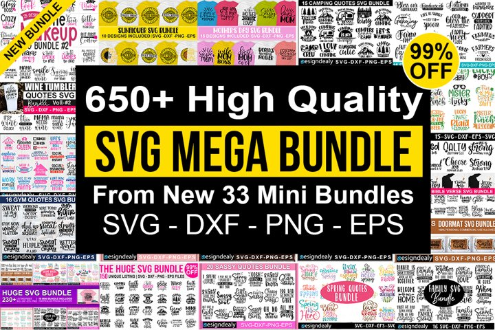 650 Designs | Massive Bundle,The Huge SVG Bundle,Big Bundle