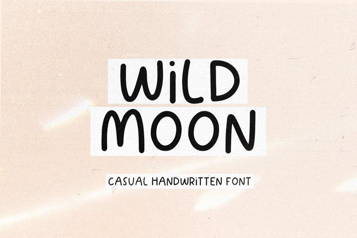 Wild Moon - Handwritten Font with Extras!