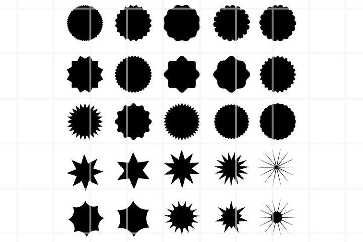 Sunburst SVG set for cut. Design elements for promo