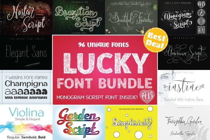 LUCKY Font Bundle