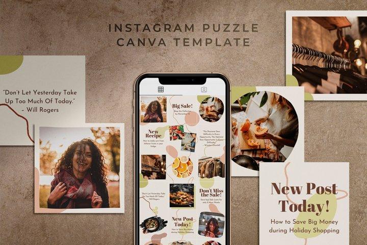 Instagram Puzzle Canva Template   Harmony