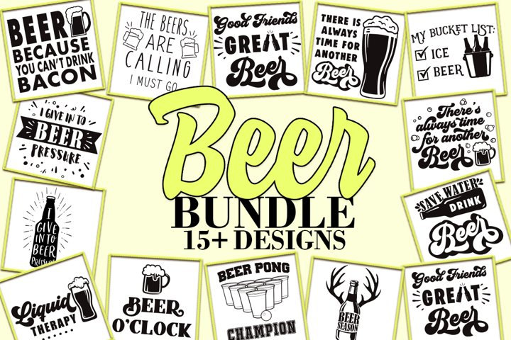 Beer SVG Bundle, DXF EPS PNG