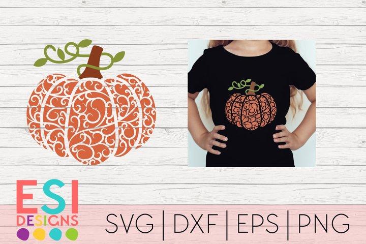 Flourish Pumpkin Design|SVG DXF EPS PNG - Free Design of The Week Font