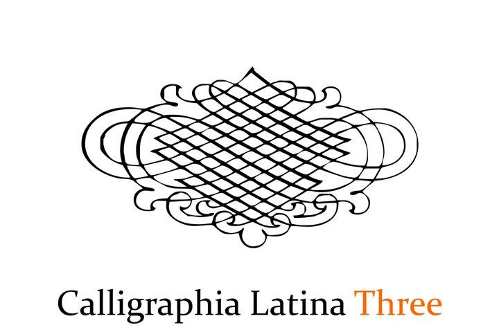 Calligraphia Latina Three