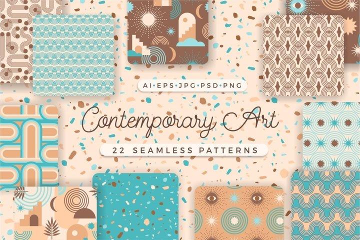 Contemporary Art. Seamless patterns