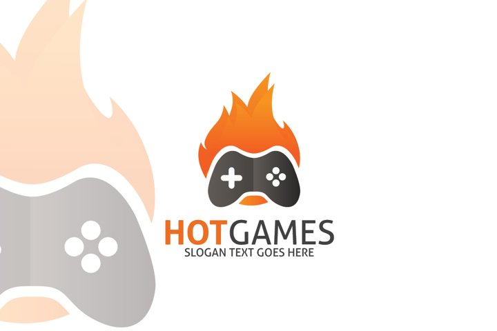 Hot Game Logo Template