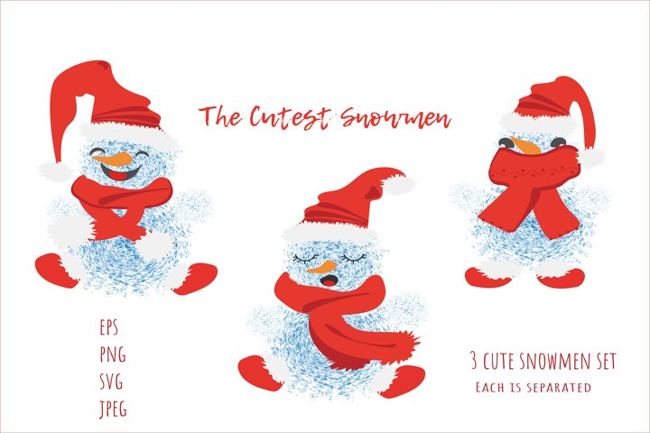 The Cutest Snowmen Set