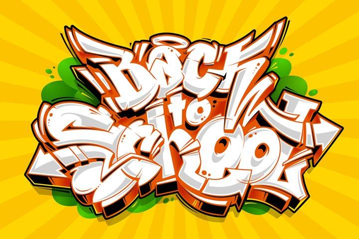 Back to School - Vector Graffiti