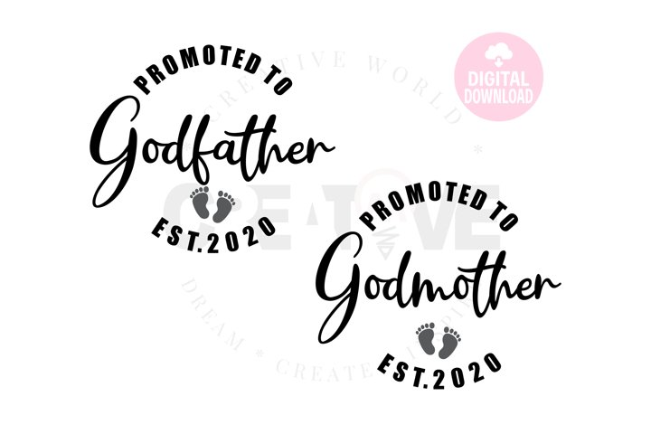 Promoted to Godfather 2020 svg   Promoted to Godmother 2020