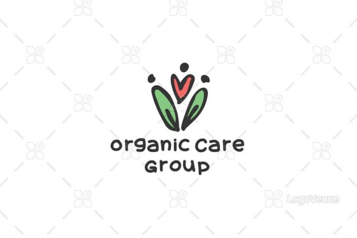 Organic Care Group - Nature Community Logo Template