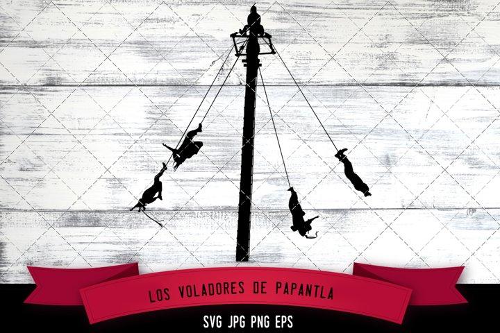 Los Voladores Cut file Svg