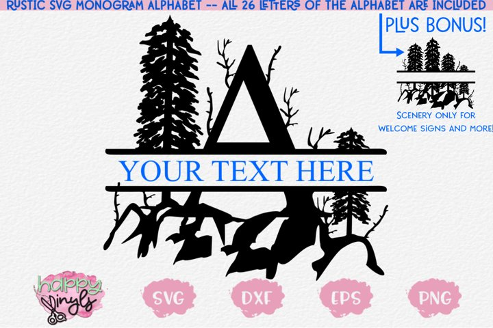 Split Letter A - Z - An SVG Split Alphabet