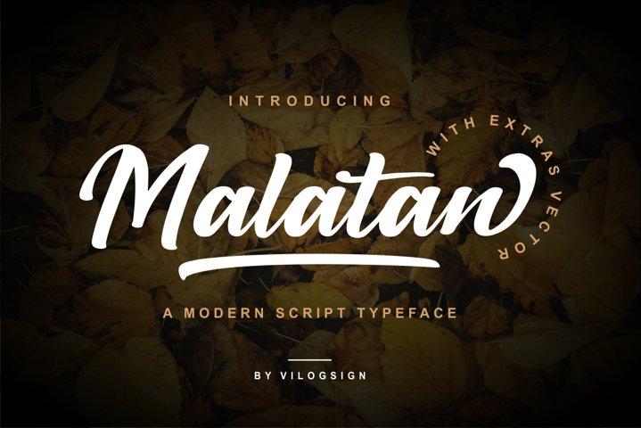 Malatan a Modern Script Typeface