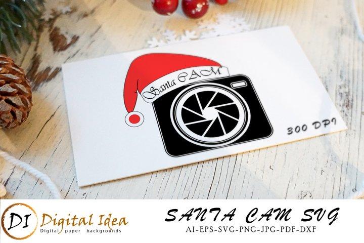 Santa Cam SVG Cut Files. Christmas SVG. Xmas Cut File.