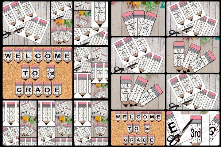 Pudgy Pencils Confetti Pattern Bookmark/Pennant Bundle