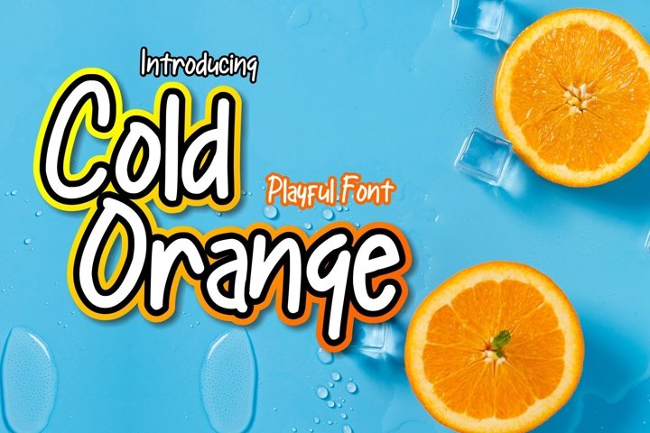 Cold Orange | Playful Font