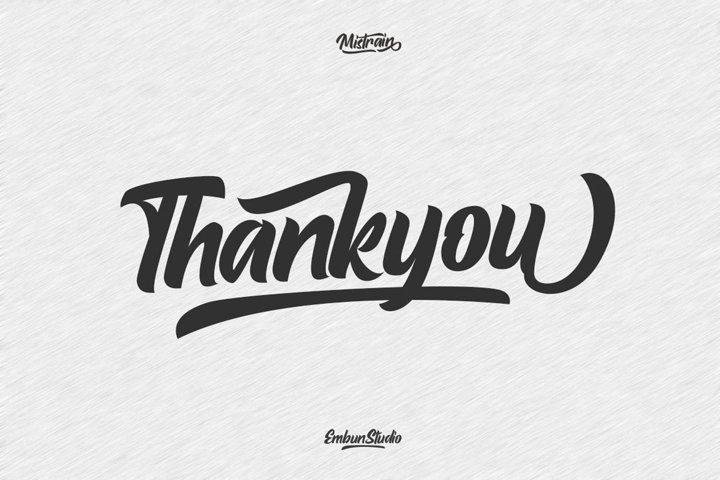 Mistrain Modern Hand Lettering - Free Font Of The Week Design0