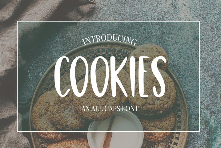 Cute, Casual, Handwritten font COOKIES - Free Font of The Week Font