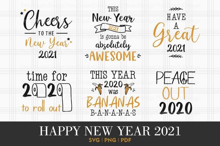 Happy New Year 2021 svg   Happy New Year svg   Vol 3