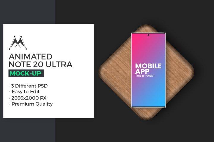 Animated Galaxy Note 20 Ultra Mockup