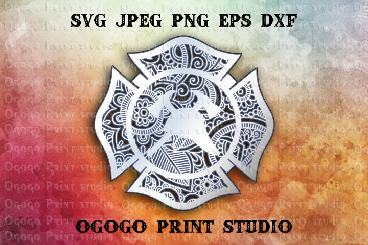 3D Layered Maltese cross Mandala Svg, Zentangle SVG