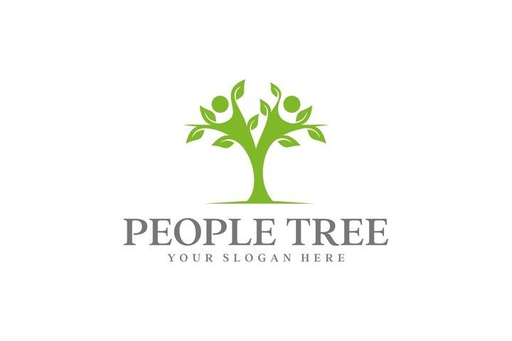 people tree logo design Design vector