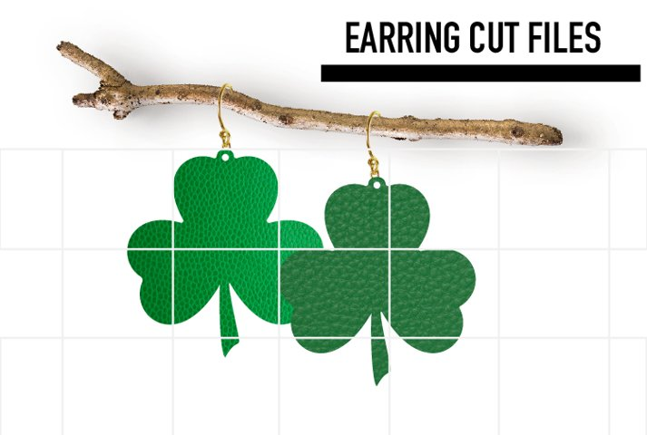Shamrock Earrings Svg / Patric Day Svg / Cut File