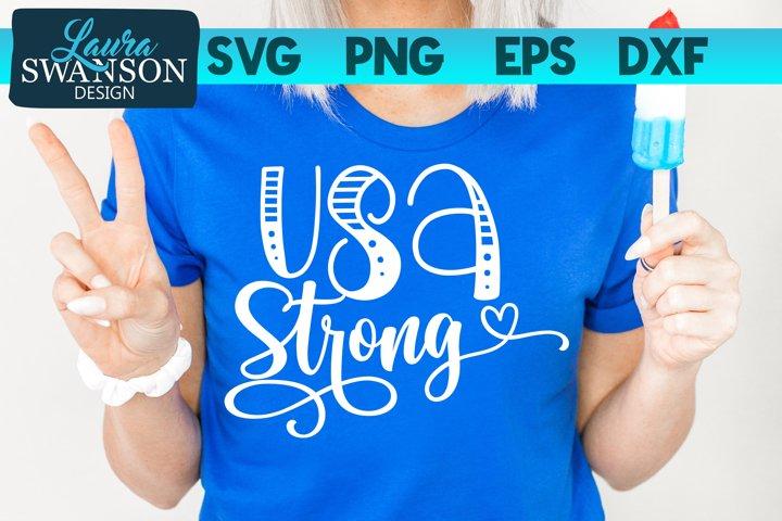 USA Strong SVG Cut File