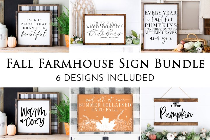 Fall Svg Bundle | Farmhouse Sign Bundle | Fall Svg Files