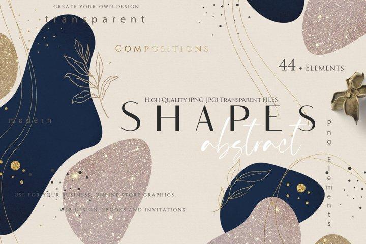 Modern Abstract Shapes Png - Jpg Overlays