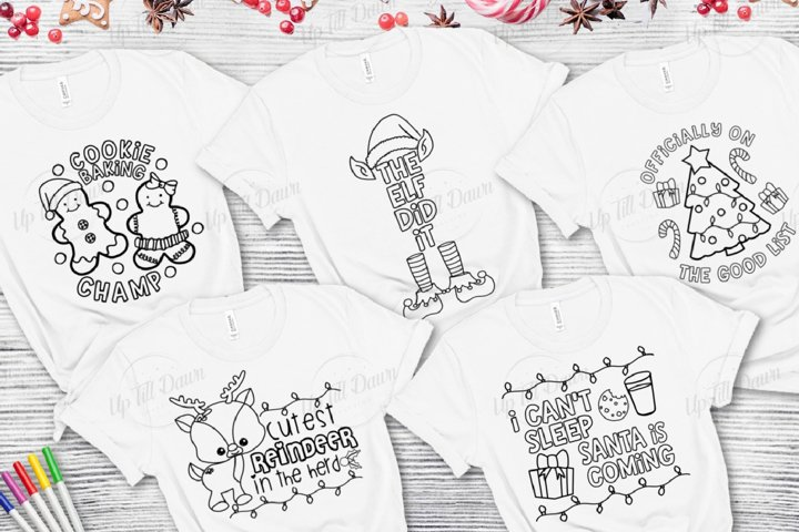 Christmas Coloring SVG Bundle