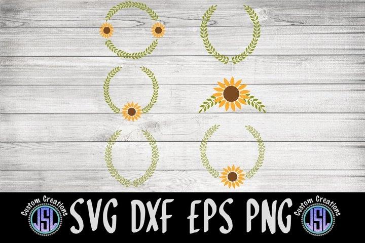 Sunflower Wreaths Bundle Set of 6 |Fall | SVG DXF EPS PNG |