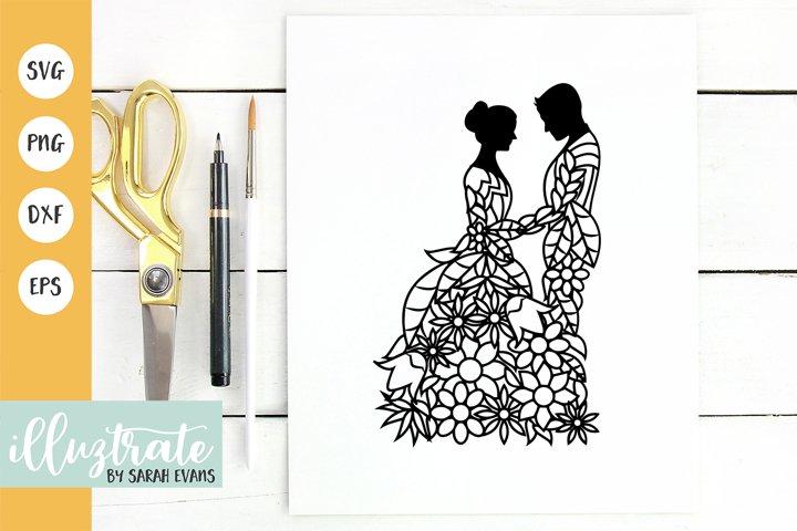 Bride and Groom SVG | Wedding SVG | Wedding Cut File