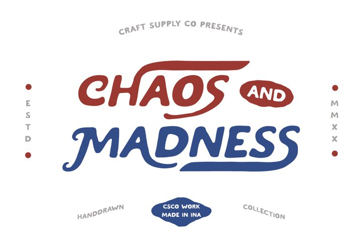 Chaos and Madness - Handdrawn Font