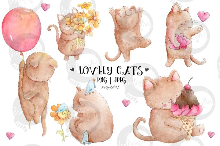 Lovely Cats | Watercolor Illustrations