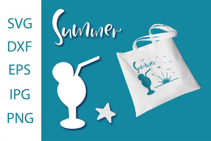 Summer,Beach SVG .File for Silhouette . Digital craft SVG