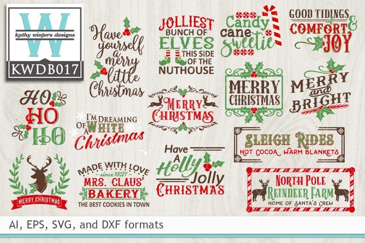 BUNDLED Christmas Cutting Files KWDB017