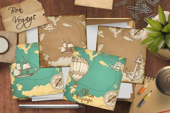 Vintage Marine Map