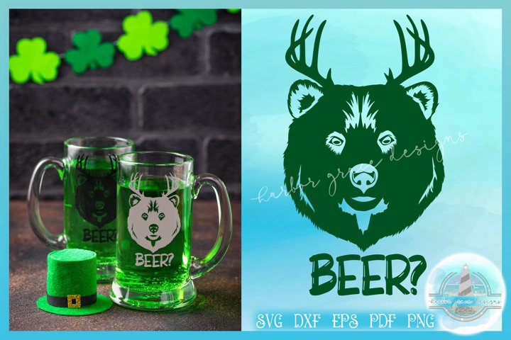 SVG Beer Bear Deer Funny | Fun Dad Tshirt Quote SVG