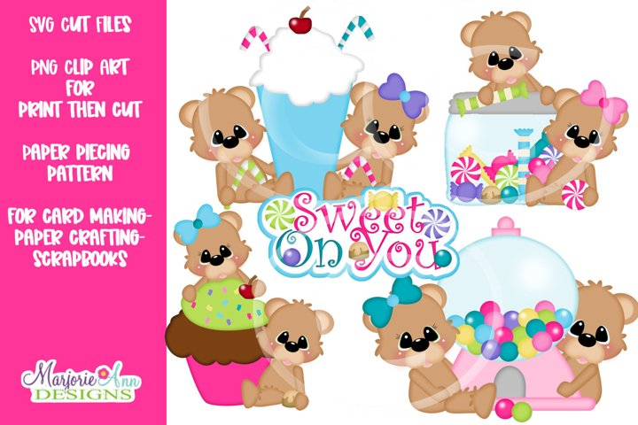 Sweet On You Bears SVG Cut File-Clip Art Files-SVG-PNG-JPG