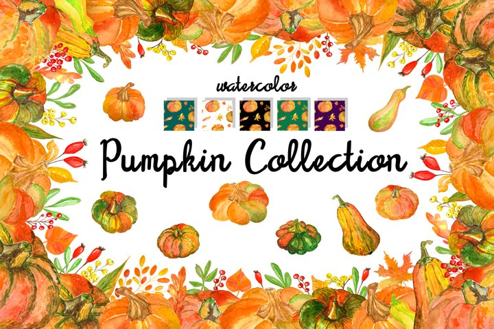 Pumpkin collection - 4 frames, 5 patterns and 17 elements