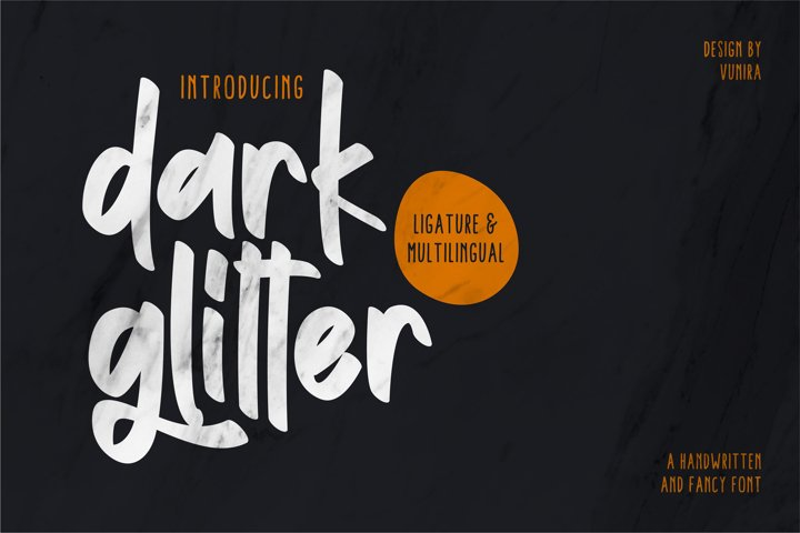 Dark Glitter | Handwritten And Fancy Font