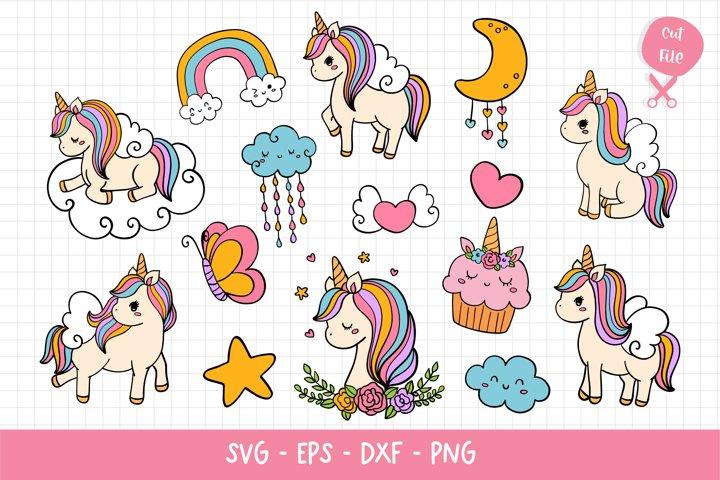 Unicorn SVG, Unicorn SVG Bundle